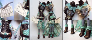 Cat sisters - Purrsephone and Meowlody custom by fuchskauz