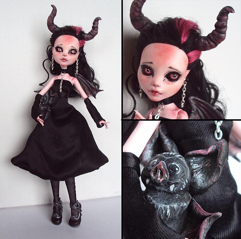 Little Imp-Girl - Monster High Draculaura custom by fuchskauz ...  sc 1 st  DeviantArt & Little Imp-Girl - Monster High Draculaura custom by fuchskauz on ...