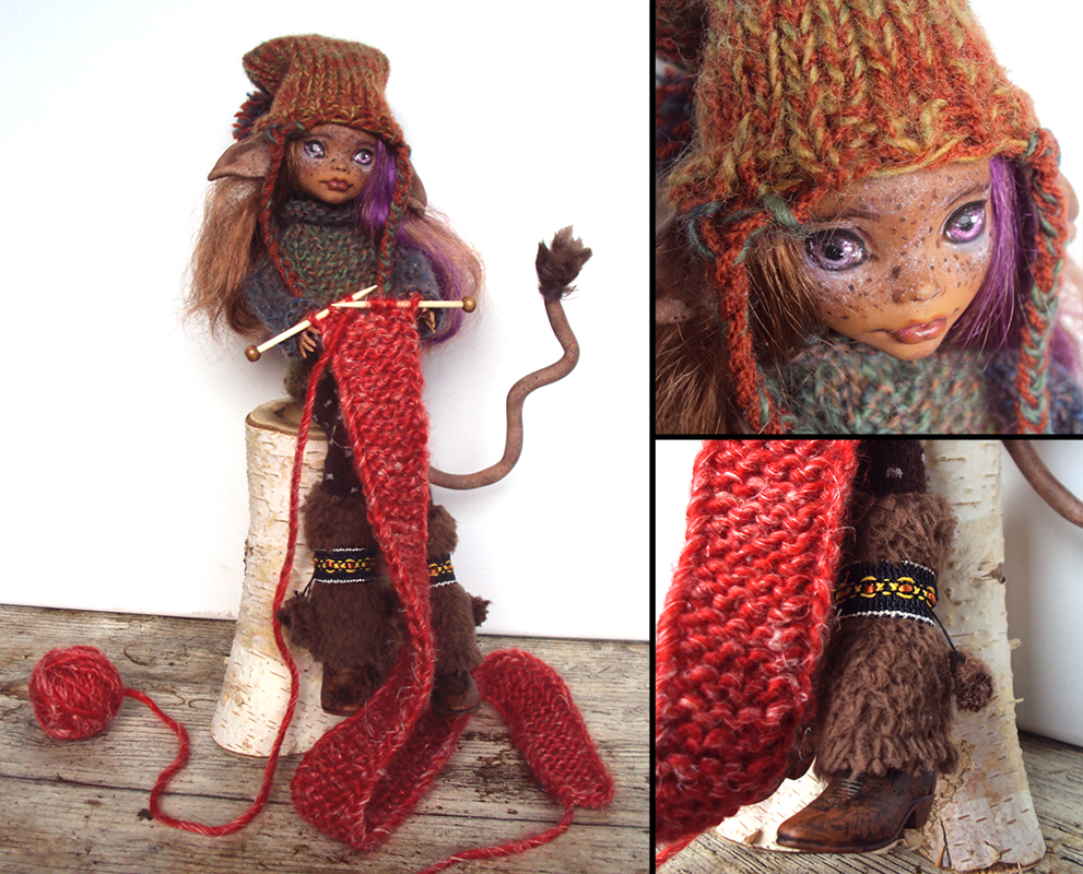 Knitting Patterns For Monster High Dolls : Knitting Huldra - Monster High Clawdeen custom by fuchskauz on DeviantArt