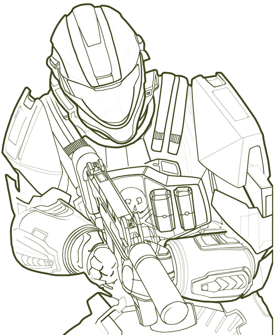 Line Drawing Game : Lineart halo by liasmani on deviantart