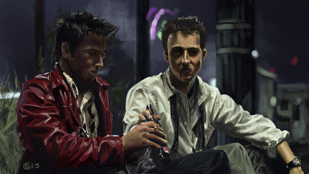 Pubg By Sodano On Deviantart: Fight Club Sketch By Bluenyte On DeviantArt