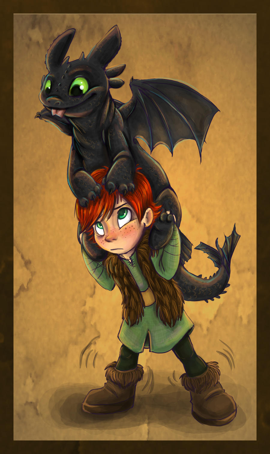 Hiccup and Toothless - How to Train Your Dragon Photo