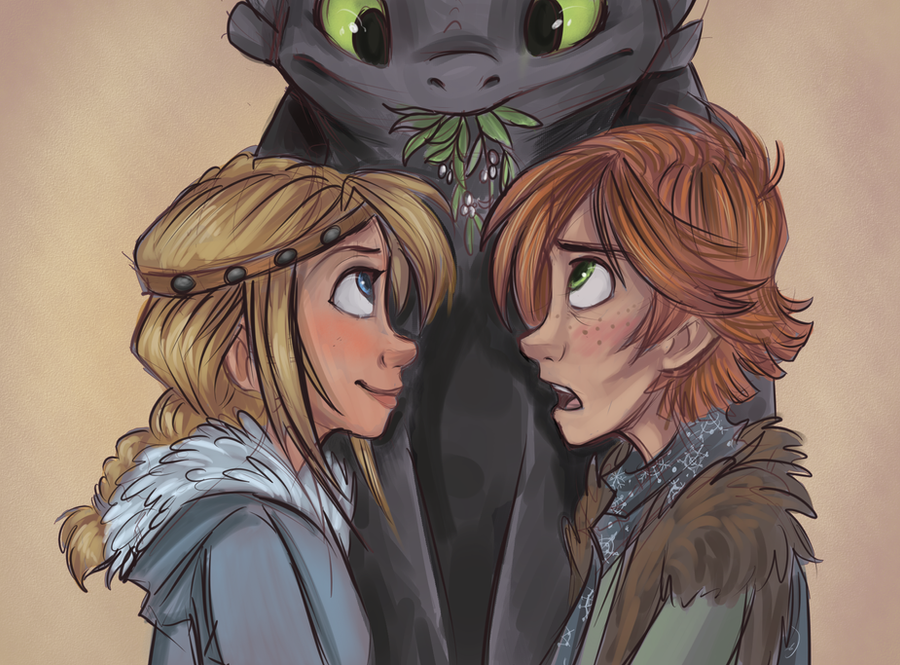 HTTYD: Mistletoe by sharkie19