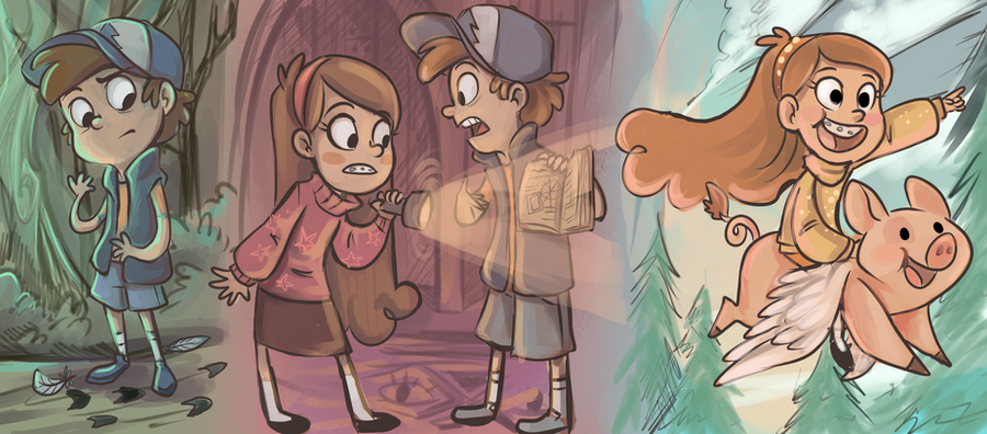 Gravity Falls by sharkie19