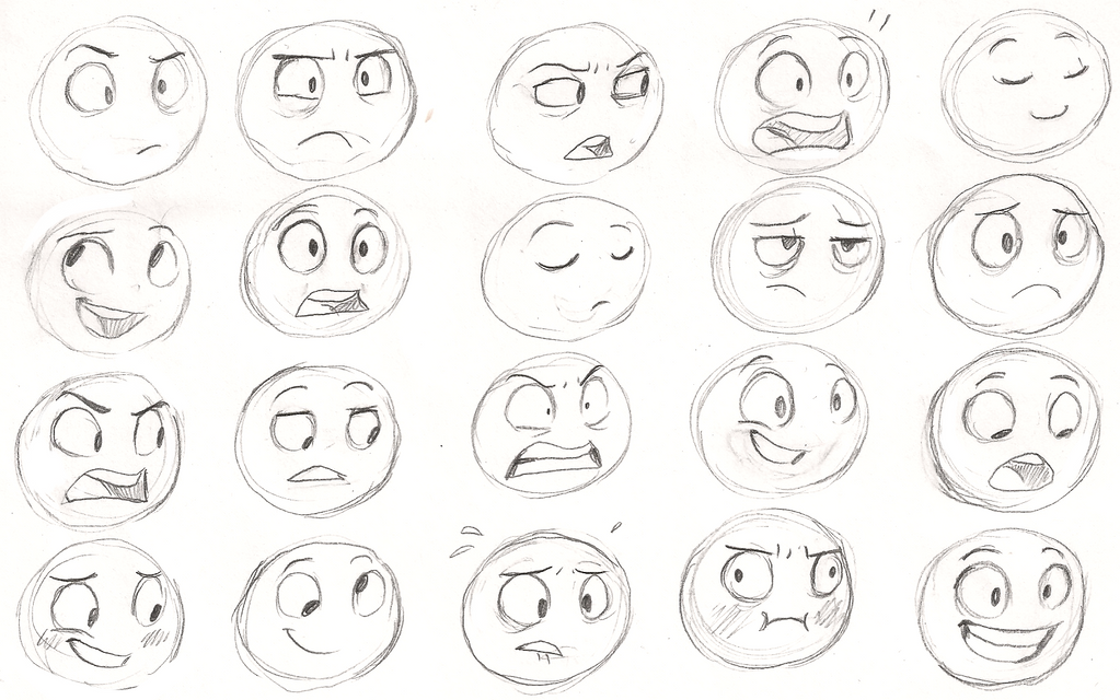 Character Design Expression Chart : Expressions by sharkie on deviantart