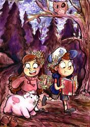 Gravity Falls Watercolor