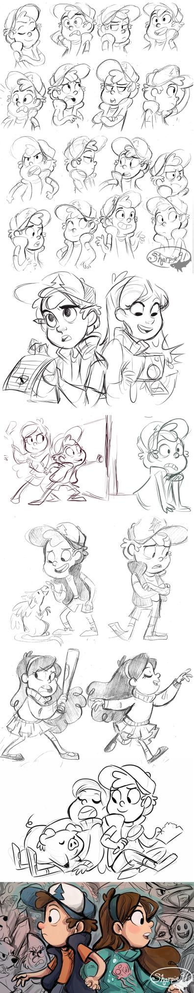 Gravity Falls Stuff 2 by sharkie19