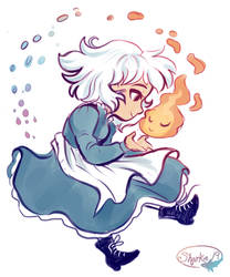 Sophie And Calcifer by sharkie19