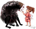 No-Face and Chihiro