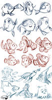 Finding Nemo Sketches