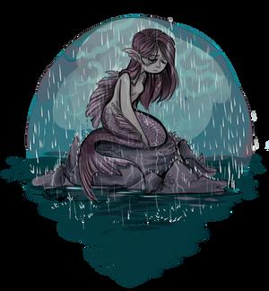 Mermaid in the Rain