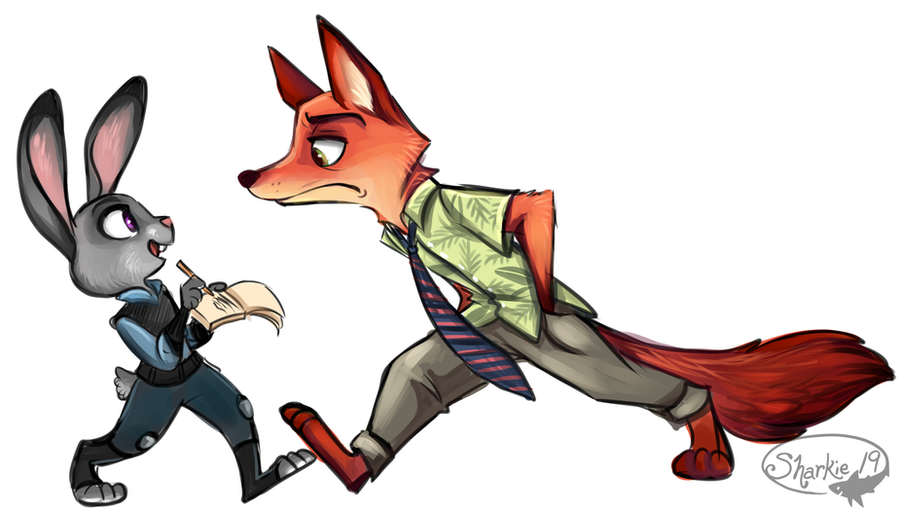 Judy and Nick by sharkie19