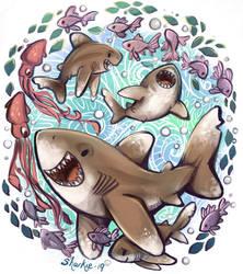 White Tip Sharks by sharkie19