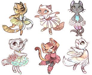 Ballerina Cats by sharkie19