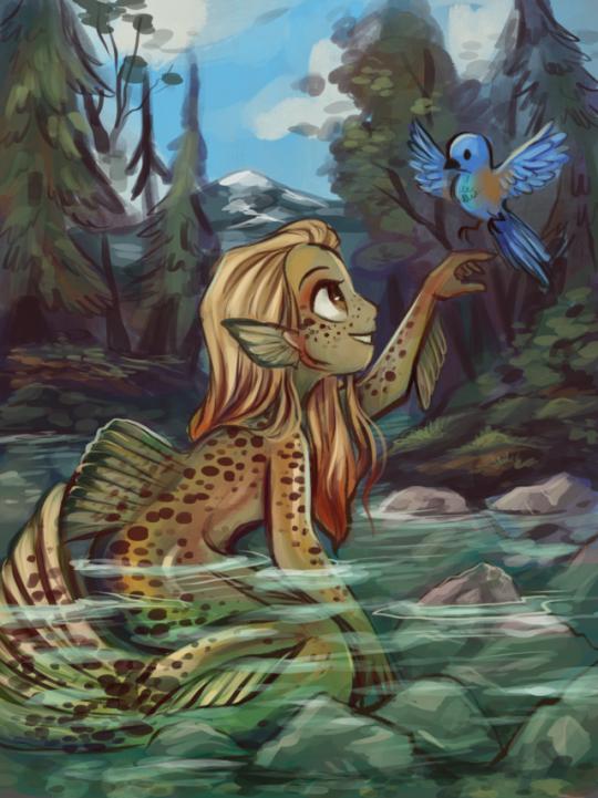 Cutthroat Trout Mermaid by sharkie19