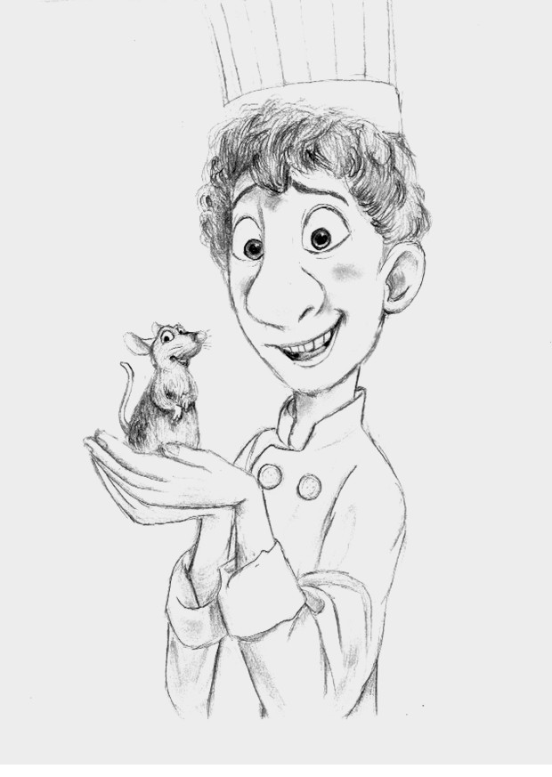 how to draw the rat from ratatouille