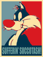 Sylvester: Sufferin' Succotash by FearOfTheBlackWolf
