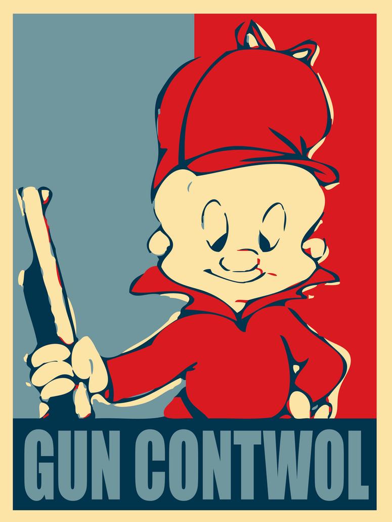 Elmer Fudd: Gun Contwol by MrAngryDog