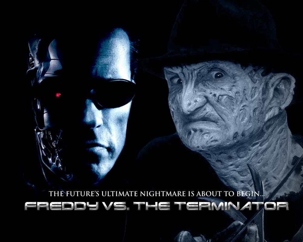 Freddy Vs. The Terminator by MrAngryDog