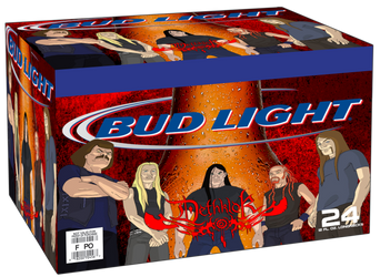 Dethklok Bud Light Packaging by FearOfTheBlackWolf