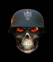 German Nazi Soldier Skull by FearOfTheBlackWolf