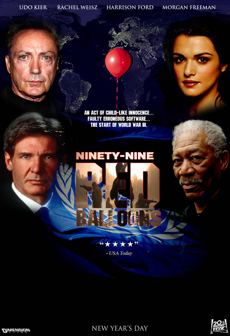 99 Red Balloons Movie Poster By FearOfTheBlackWolf