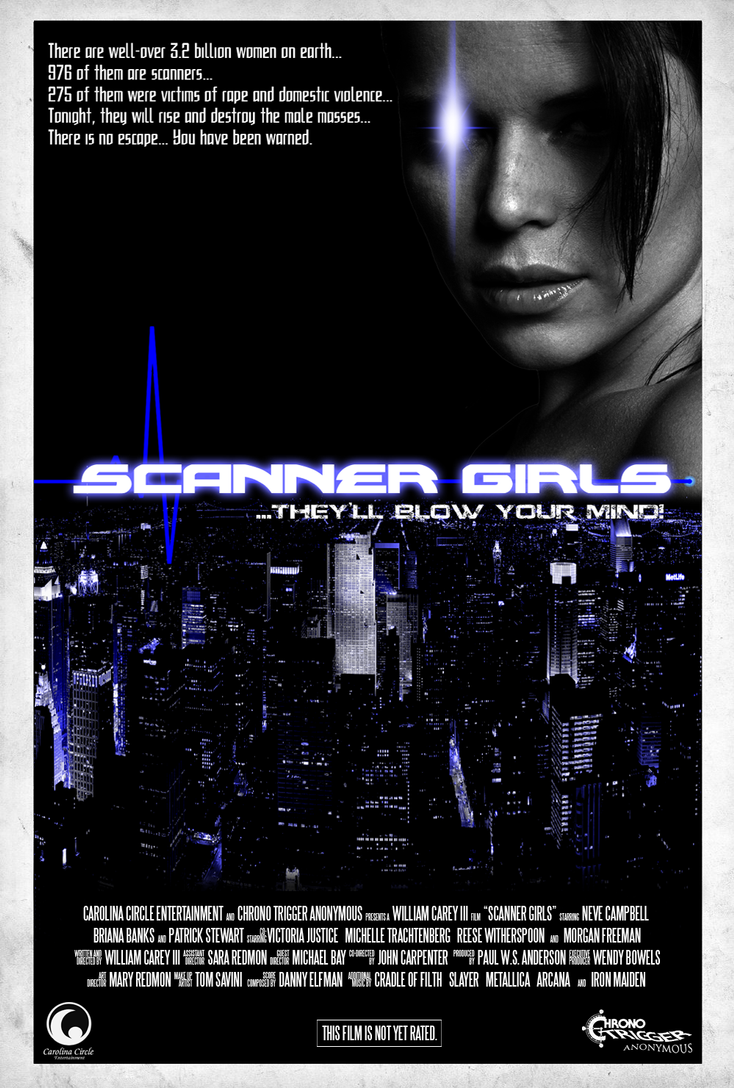 Scanner Girls Movie Poster by MrAngryDog