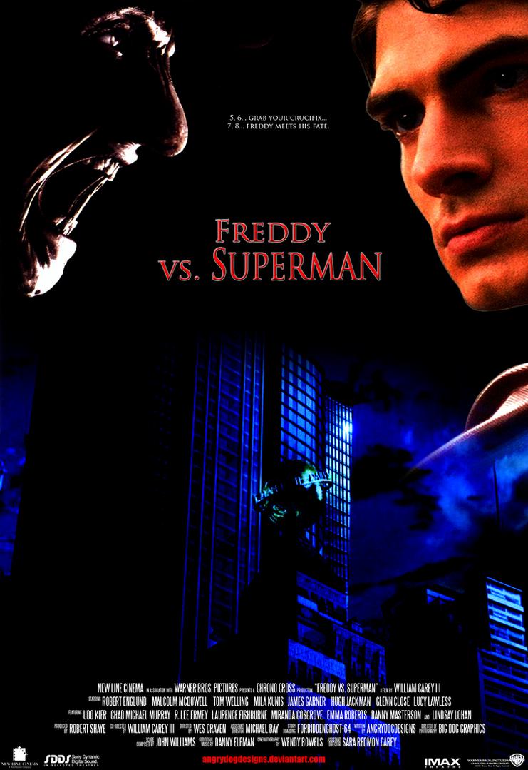 Freddy Vs. Superman Final Draft Poster by MrAngryDog