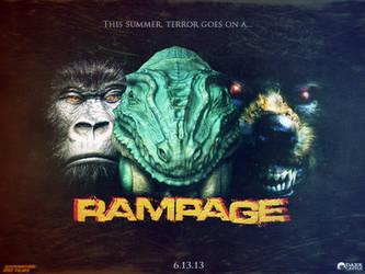 Rampage: The Movie Poster (Fan Made) by FearOfTheBlackWolf