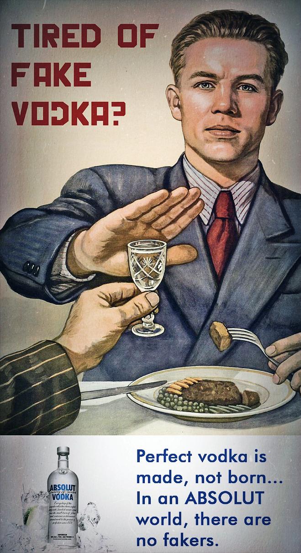 Absolut Vodka Ad: Steak Dinner by MrAngryDog