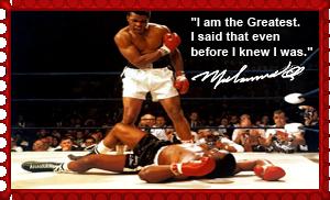 Muhammad Ali vs. Sonny Liston Stamp by MrAngryDog