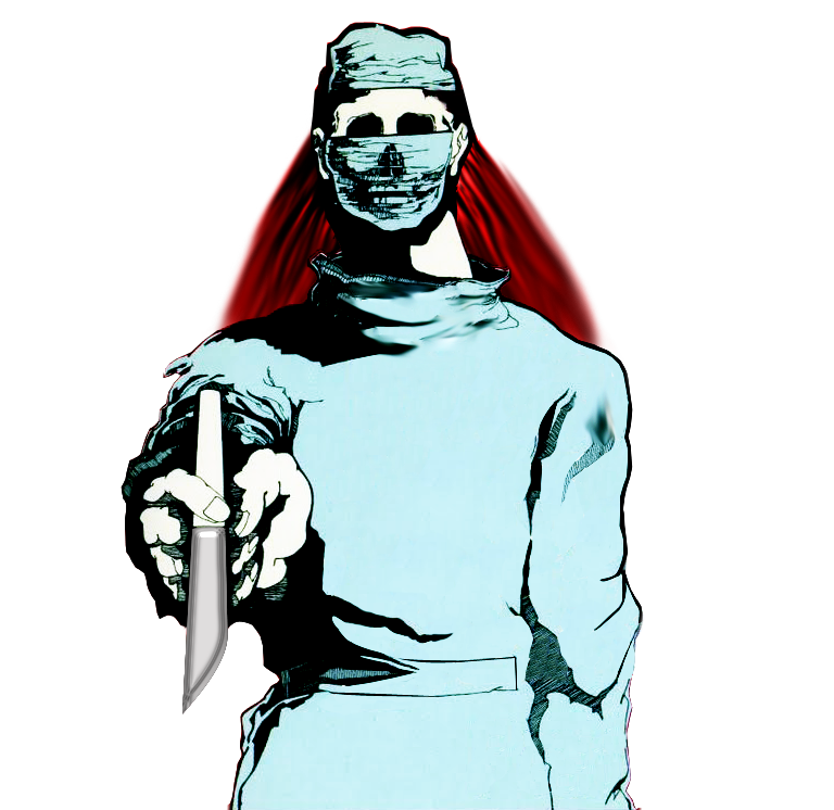 Scary Undead Surgeon by MrAngryDog