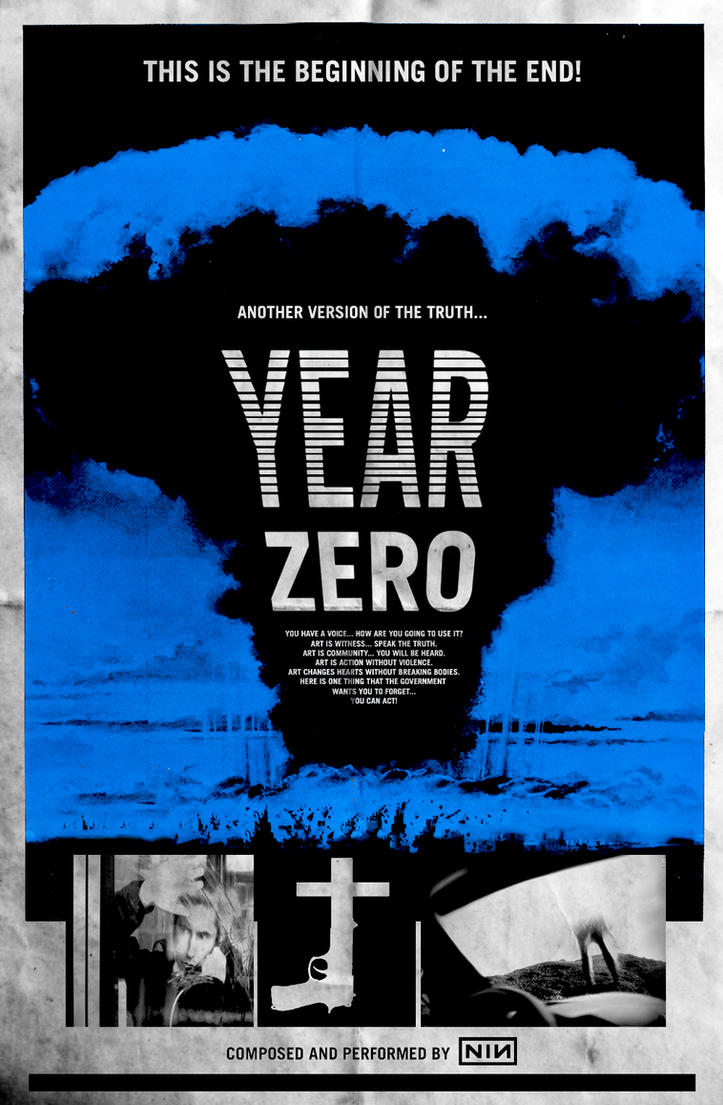 Nine Inch Nails Year Zero Cinema-Style Poster by FearOfTheBlackWolf ...