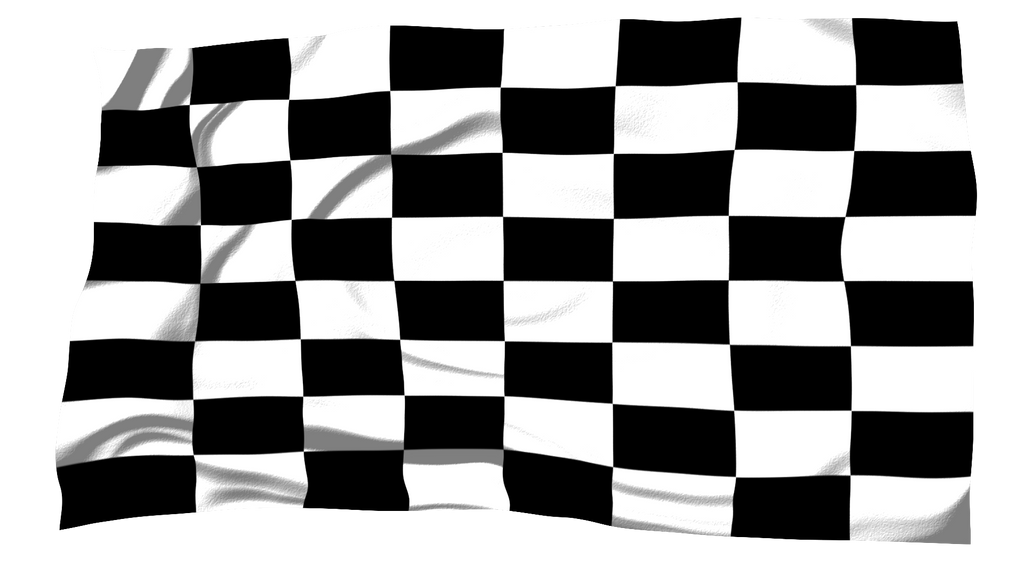 Checkered Racing Flag by MrAngryDog