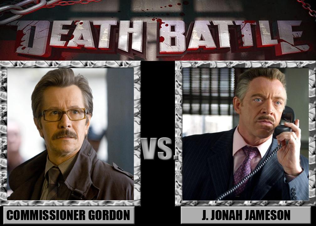 death battle comm r gordon vs j jonah jameson by
