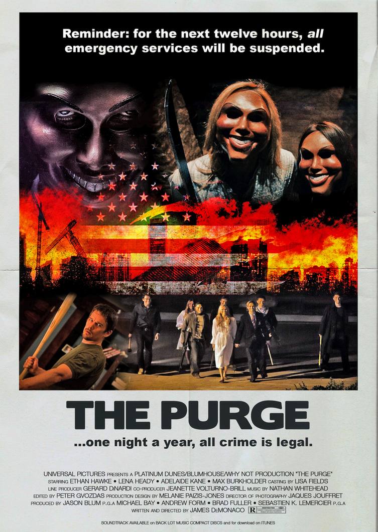 the purge movie poster (1980s version)fearoftheblackwolf on