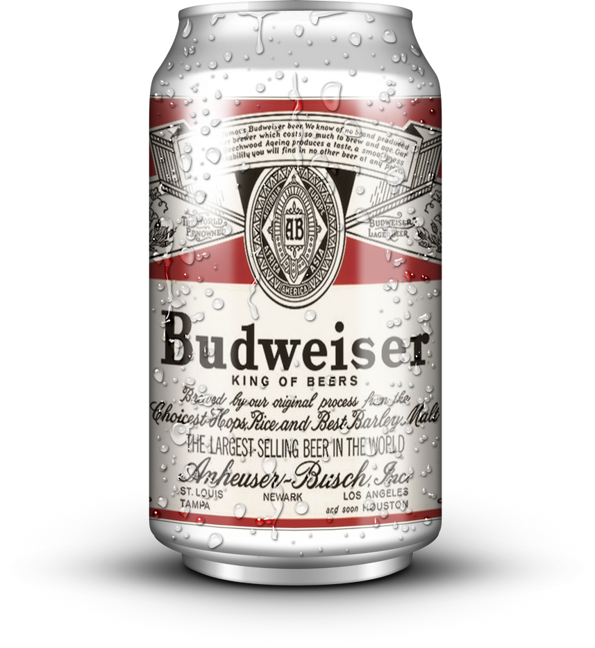 Can of Budweiser (1980s) by MrAngryDog on DeviantArt