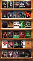 Wooden DVD Home/Store Shelf Display