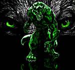Incredible Wolf Hulk Digital Painting