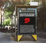 ''Report Trolling'' Poster