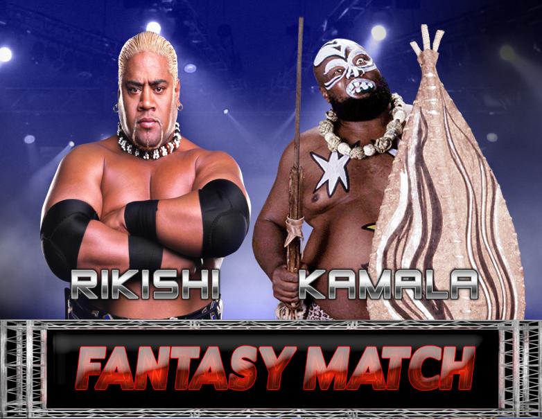 Rikishi Vs. Kamala Fantasy Match by MrAngryDog