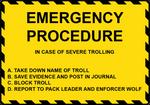 Emergency Procedure Sign by FearOfTheBlackWolf