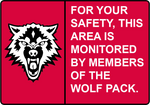 ''Monitored By The Wolf Pack'' Sign by FearOfTheBlackWolf