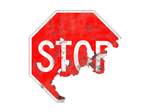 Corroded STOP Sign