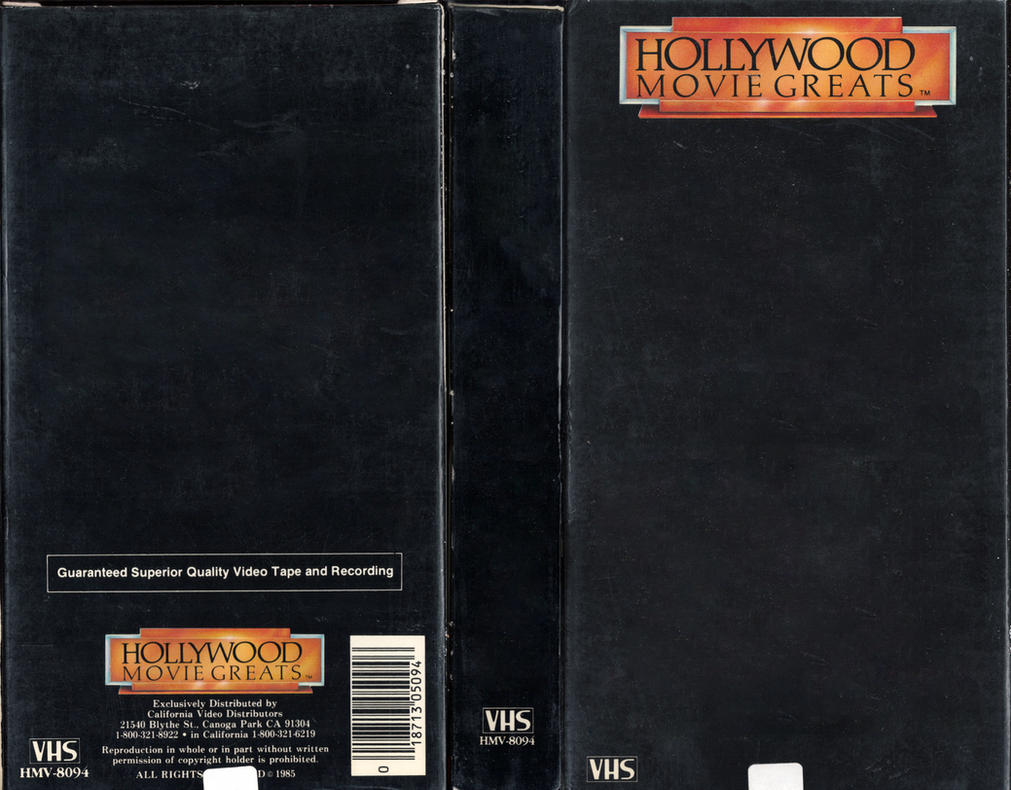 hollywood greats vhs cover template hd quality by