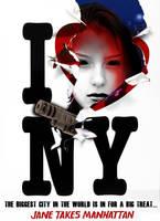 Jane Takes Manhattan Poster (Jane w/ Gun)