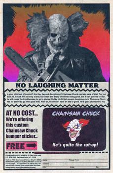 Chainsaw Chuck Newspaper Ad