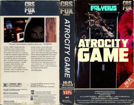 ''Atrocity Game'' (Polybius) VHS Scan Cover
