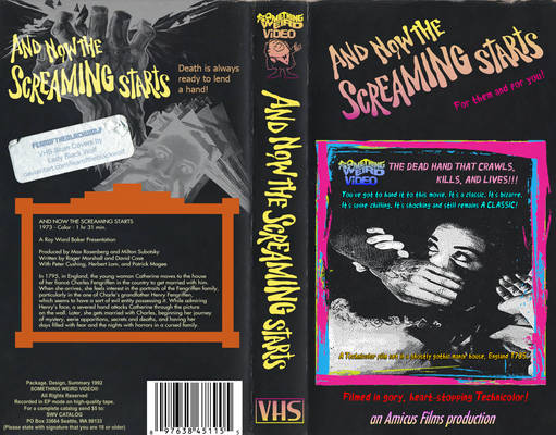 ''And Now The Screaming Starts!'' Custom VHS Cover