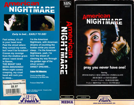 American Nightmare VHS Cover (INK Version)